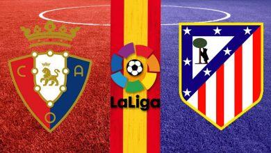 أوساسونا وأتلتيكو مدريد