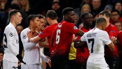 صورة التشكيل المتوقع لقمة باريس سان جيرمان ومانشستر يونايتد في دوري أبطال أوروبا