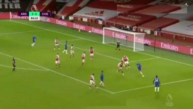 هدف تشيلسي الاول في مرمى ارسنال 3-1 الدوري الانجليزي