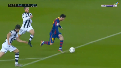 هدف ميسي في مرمى ليفانتي 1-0 الدوري الاسباني