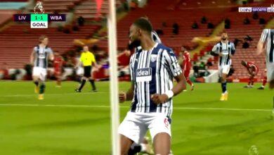 هدف وست بروميتش الاول في مرمى ليفربول 1-1 الدوري الانجليزي