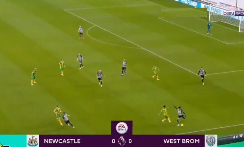 اهداف مباراة نيوكاسل يونايتد ووست بروميتش 2-1 الدوري الانجليزي