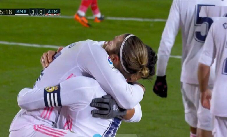 هدف ريال مدريد الاول في مرمى اتليتكو مدريد 1-0 الدوري الاسباني