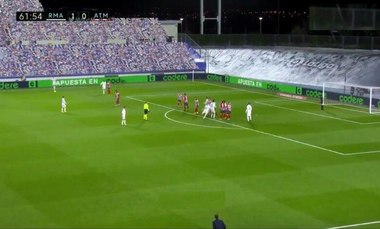 هدف ريال مدريد الثاني في مرمى اتليتكو مدريد 2-0 الدوري الاسباني