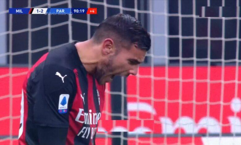 اهداف مباراة ميلان وبارما 2-2 الدوري الايطالي
