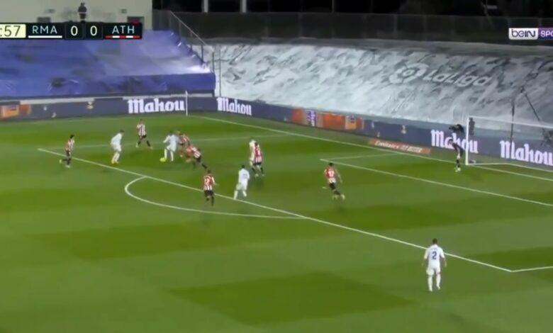هدف ريال مدريد الاول في مرمى اتليتك بلباو 1-0 الدوري الاسباني