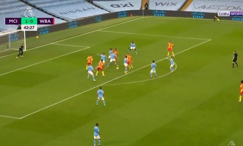 اهداف مباراة مانشستر سيتي ووست بروميتش 1-1 الدوري الانجليزي