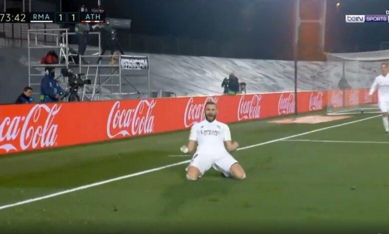 هدف كريم بنزيما في مرمى اتليتك بلباو 2-1 الدوري الاسباني