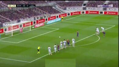 هدف ليونيل ميسي في مرمى فالنسيا 1-1 الدوري الاسباني