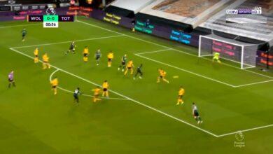هدف توتنهام الاول في مرمى وولفرهامبتون 1-0 الدوري الانجليزي