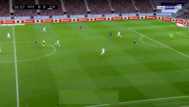 هدف ايبار الاول في مرمى برشلونة 1-0 تعليق عصام الشوالي