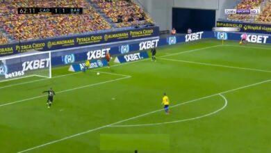 هدف قاديش الثاني في مرمى برشلونة 2-1 تعليق عصام الشوالي