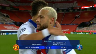 اهداف مباراة باريس سان جيرمان ومانشستر يونايتد 3-1 دوري ابطال اوروبا