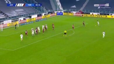 اهداف مباراة يوفنتوس وتورينو 2-1 الدوري الايطالي