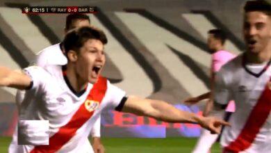 هدف رايو فابيكانو الاول في مرمى برشلونة 1-0 كأس اسبانيا