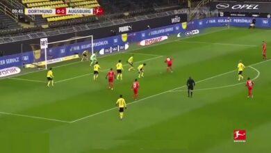 اهداف مباراة بوروسيا دورتموند واغسبورغ 3-1 الدوري الألماني