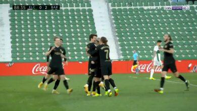 هدف برشلونة الثاني في مرمى التشي 2-0 الدوري الاسباني