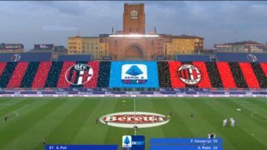اهداف مباراة ميلان وبولونيا 2-1 الدوري الايطالي
