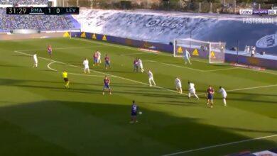 هدف ليفانتي الاول في مرمى ريال مدريد 1-1 الدوري الاسباني