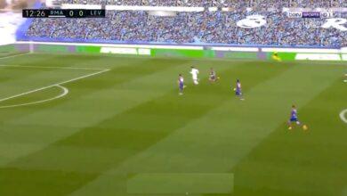 هدف ريال مدريد الاول في مرمى ليفانتي 1-0 الدوري الاسباني