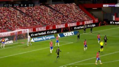 هدف برشلونة الرابع في مرمى غرناطة 4-0 الدوري الاسباني