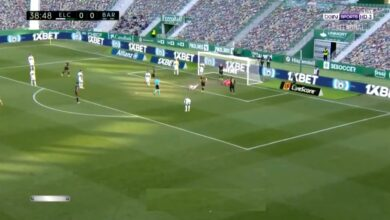 هدف برشلونة الاول في مرمى التشي 1-0 الدوري الاسباني