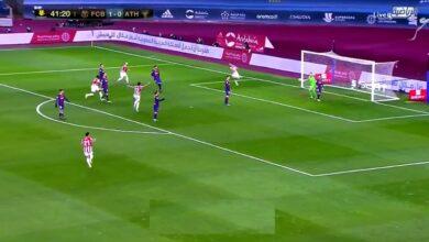 هدف تعادل اتليتك بلباو امام برشلونة 1-1 تعليق فهد العتيبي