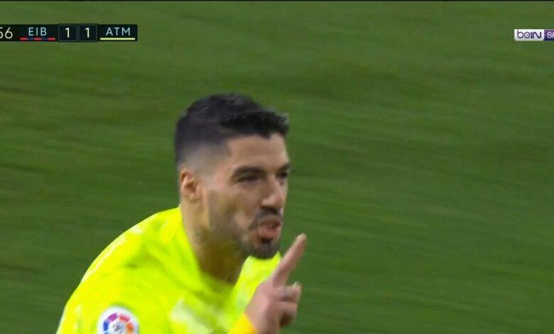 اهداف مباراة اتليتكو مدريد وايبار 2-1 الدوري الاسباني