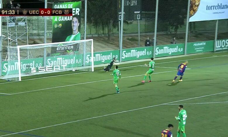 هدف برشلونة الاول في مرمى كورنيا 1-0 كاس ملك اسبانيا