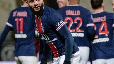 لاعبي فريق باريس سان جيرمان