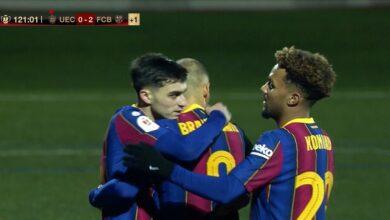 هدف برشلونة الثاني في مرمى كورنيا 2-0 كاس ملك اسبانيا