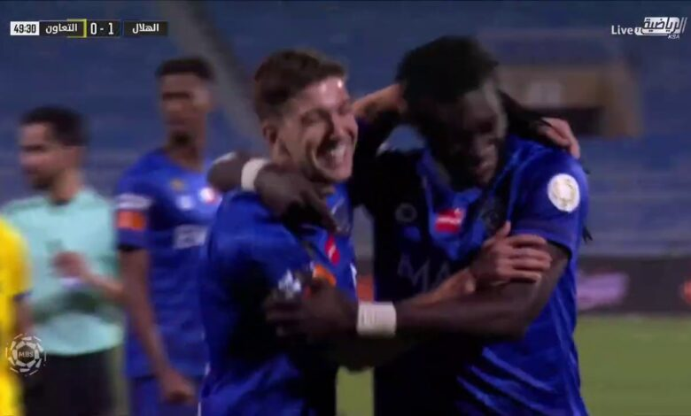 اهداف مباراة الهلال والتعاون 2-0 الدوري السعودي