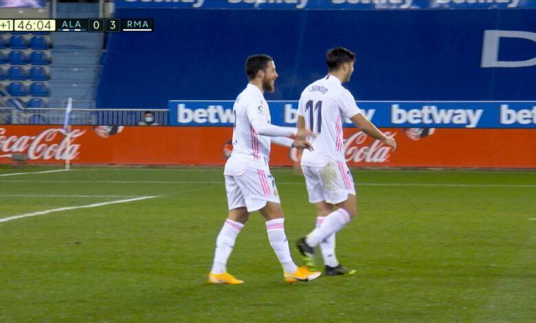 هدف هازارد في مرمى ألافيس 3-0 تعليق عصام الشوالي