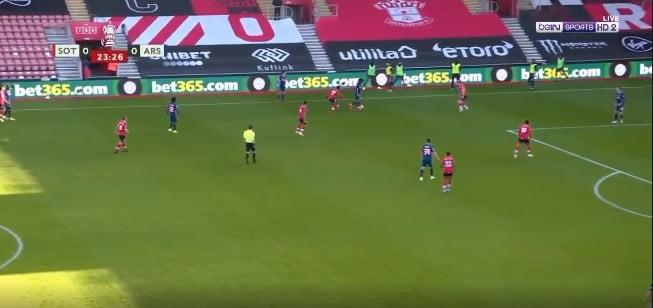 اهداف مباراة ساوثهامبتون وارسنال 1-0 كأس الاتحاد الانجليزي