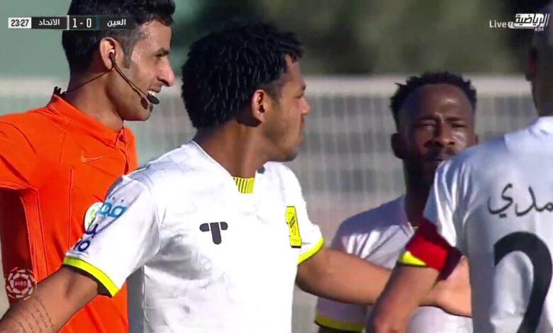 اهداف مباراة الاتحاد والعين 2-1 الدوري السعودي