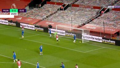 هدف كافاني في مرمى ايفرتون 1-0 الدوري الانجليزي