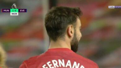 هدف برونو فيرنانديز في مرمى ايفرتون 2-0 الدوري الانجليزي