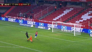 هدف غرناطة الثاني في مرمى برشلونة 2-0 كأس اسبانيا