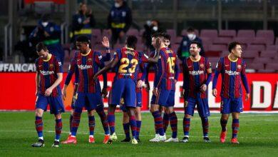 من مباراة برشلونة وألافيس