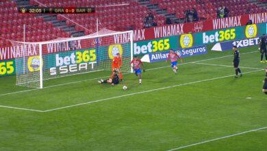 هدف غرناطة الاول في مرمى برشلونة 1-0 كأس اسبانيا