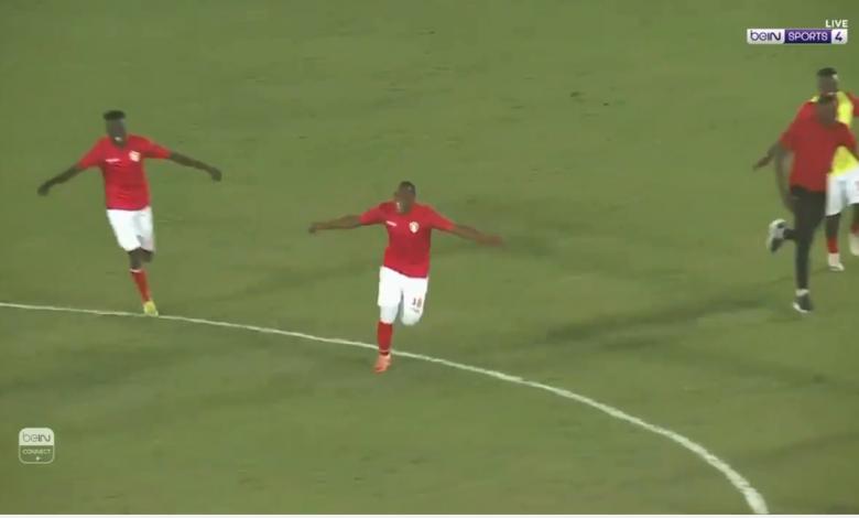 لحظة اعلان تأهل منتخب السودان لنهائيات امم افريقيا