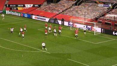 اهداف مباراة مانشستر يونايتد وميلان 1-1 الدوري الاوروبي