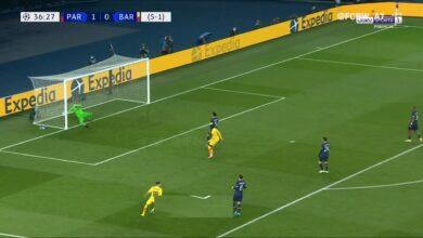 هدف ميسي العالمي في مرمى باريس سان جيرمان 1-0 دوري ابطال اوروبا