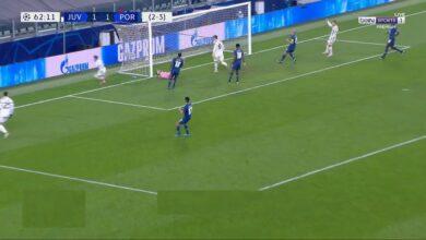 هدف يوفنتوس الثاني في مرمى بورتو 2-1 دوري ابطال اوروبا