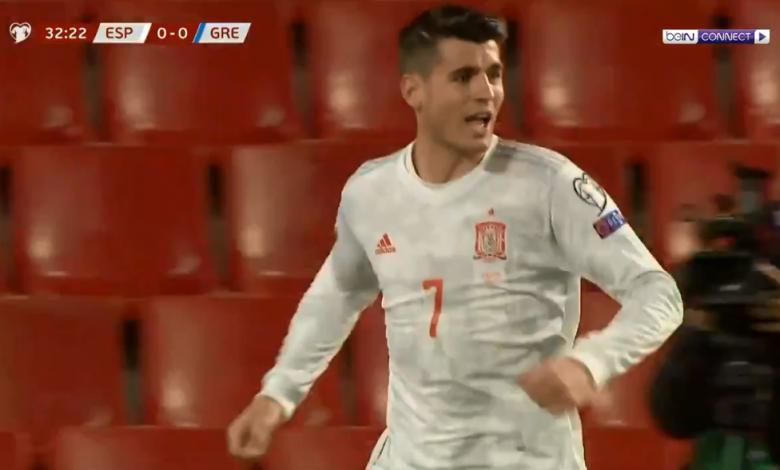 هدف موراتا الرائع أمام اليونان 1-0 تصفيات كأس العالم