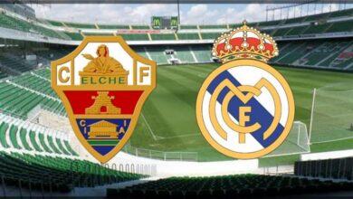 ريال مدريد وإلتشي