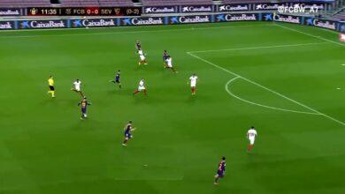 هدف عثمان ديمبلي في مرمى اشبيلية 1-0 كأس ملك إسبانيا