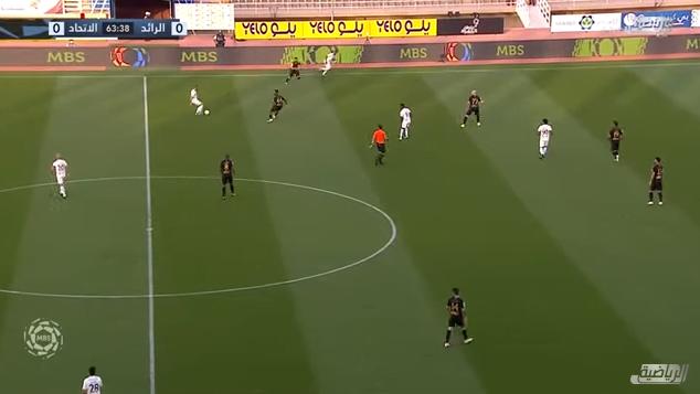 اهداف مباراة الاتحاد والرائد 1-1 الدوري السعودي