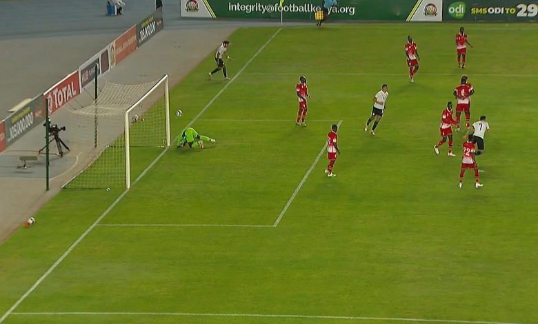 هدف مصر الاول في مرمى كينيا 1-0 تصفيات امم افريقيا
