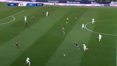 اهداف مباراة انتر ميلان وبولونيا 1-0 الدوري الايطالي